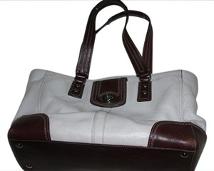 coach Tote in white/brown
