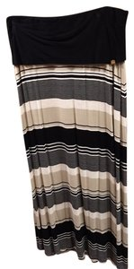 Calvin Klein Versatile Sundress Long Maxi Skirt Black and Multi Color