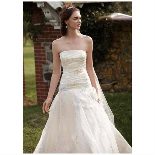 Preload https://item5.tradesy.com/images/david-s-bridal-ivory-with-pink-peach-light-blue-floral-print-organza-strapless-ball-gown-vintage-wed-10298404-0-0.jpg?width=440&height=440