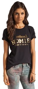 Brian Lichtenberg Bltee Homies Celebrity Unisex South Central High Fashion Street Wear T Shirt Black / Gold Foil