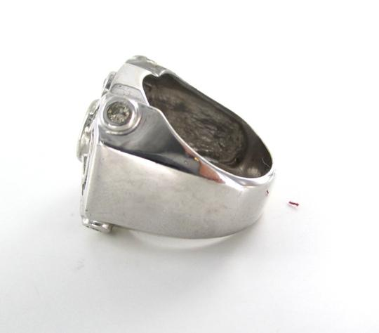 Other 14K SOLID WHITE GOLD CLUSTER RING 60 DIAMONDS MEN FINE JEWELRY DESIGN15.8 GRAMS