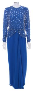 Victoria Royal Ltd Vintage Pearl Beads Evening Longsleeve Mother Of The Bride Polyester Dress