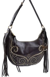 1eb5b554d7b0 Michael Kors Rhea Studded Small Slouchy Leather Shoulder Cross Body Bag