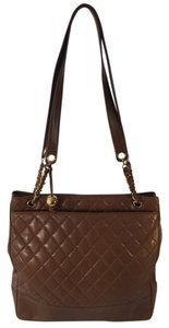 Chanel Brown Quilted Tote in Saddle Brown