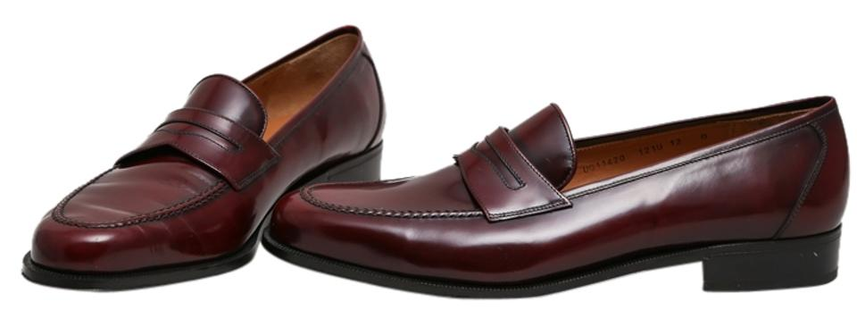7fb1814d601 Salvatore Ferragamo Brown Mens Leather Penny Loafers Flats Size US ...