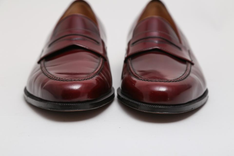 ed0306e6511 Salvatore Ferragamo Brown Mens Leather Penny Loafers Flats Size US 12  Regular (M