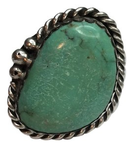 Other Sterling Silver and Turquoise Ring One of a Kind