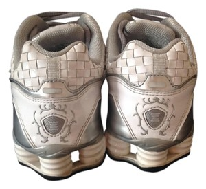 Nike Shox Patent Leather White silver Athletic
