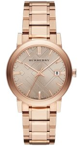 Burberry Burberry Women's Swiss The City Rose Gold Ion-Plated Stainless Steel Bracelet Watch 38mm BU9034
