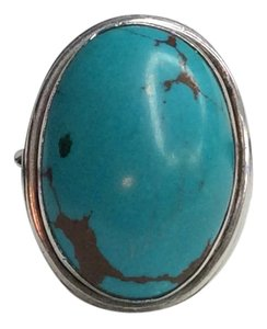 Sterling Silver and Turquoise Ring One of a Kind