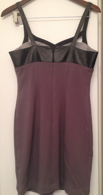Black Halo Sexy Faux Leather Dress