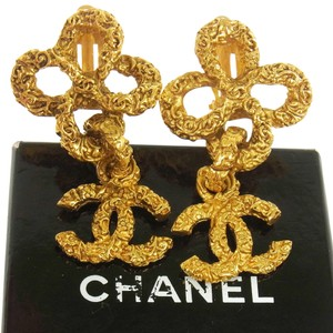 Chanel Authentic CHANEL Vintage CC Logos Earrings 1.2 - 2.2
