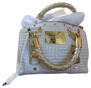 Versace Satchel in White/Gold