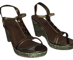 Madeline Stuart Hardware Sandals Bronze Wedges