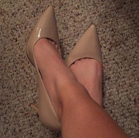 Shoemint Pointed Toe Nude Pumps