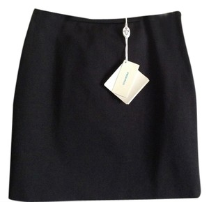 Emilio Pucci Made In Italy 93% Nylon Mini Skirt Black