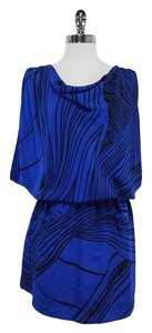 Yumi Kim short dress Blue Black Stripe Silk on Tradesy