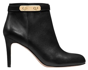 Coach Leather Turnlock Gold Hardware Black Boots
