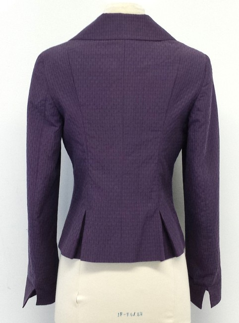 Max Mara Purple Textured Collar Jacket