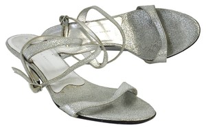 Giuseppe Zanotti Silver Sparkle Strappy Heels Strappy Heels Sandals