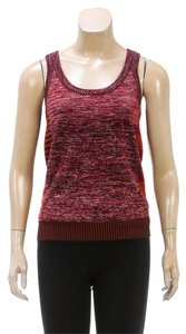 Gucci Gucci Red Sleeveless Knit Print Top (Size M)