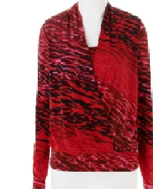 dressbarn Night Out Work School All Purpose Top Black / Red
