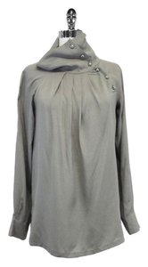 Max Mara Grey Silk Top