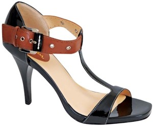 Cole Haan Leather Patent Leather Black Sandals