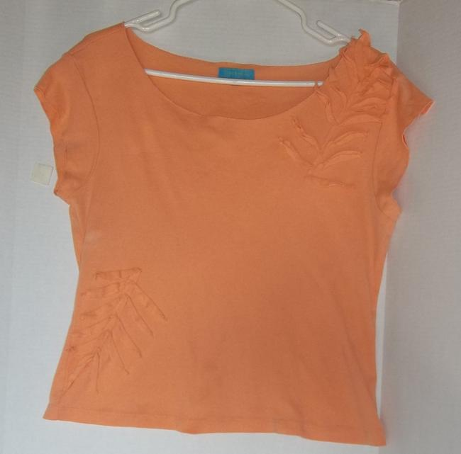 Cable & Gauge Tank Summer T Shirt Peach