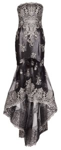 Marchesa Black Embroidered Notte Dress