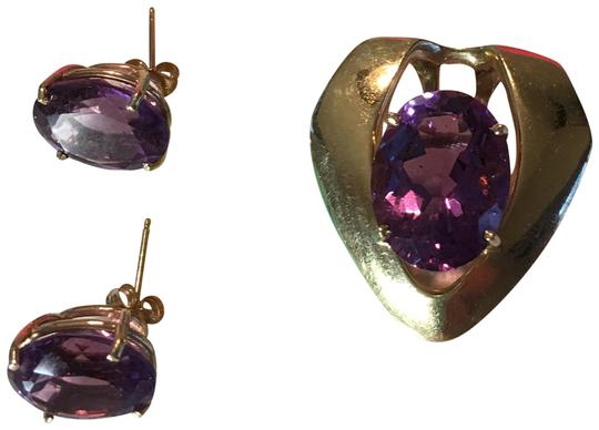 Preload https://item3.tradesy.com/images/barmakian-jewelers-amethyst-and-14k-gold-huge-yellow-matching-earrings-and-pendant-10305607-0-19.jpg?width=440&height=440