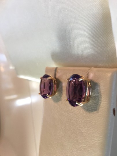Barmakian Jewelers HUGE 14K YELLOW GOLD MATCHING AMETHYST EARRINGS & PENDANT