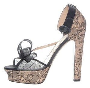 Valentino Lace Platforms Black Beige Vl.j0212.39 Pumps