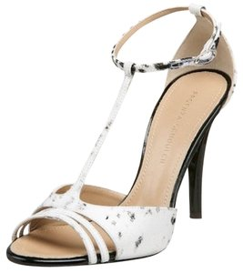 Proenza Schouler Printed Fabric Leather Black Black/White Sandals