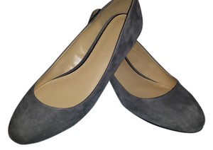 H by Halston grey suede and black suede Flats
