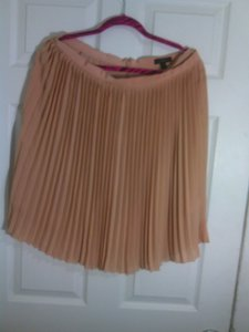 J.Crew Pleated Classic Silk Pink Skirt salmon