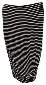 Vince Camuto Pencil Lined Skirt Black and White Stripes