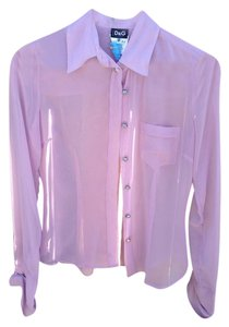 Dolce & Gabbana Button Down Shirt Lilac