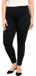 Other Plus-size Women Girls Ladies Pants Yoga Warm Fleece Polyester Spandex 1x 3x Queen Size Black Leggings