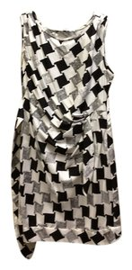 Diane von Furstenberg Zipper Squares Belt Silk Dress