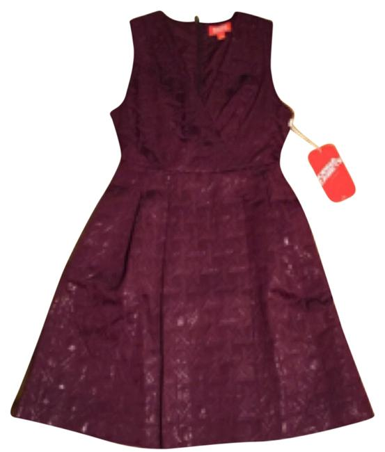 Preload https://item2.tradesy.com/images/purple-low-cut-neck-line-above-knee-night-out-dress-size-2-xs-10307386-0-1.jpg?width=400&height=650