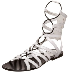 Cole Haan New Gladiator Patent Leather White Sandals
