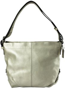 Coach Duffle F15064 Convertible Purse Metallic Leather Shoulder Bag