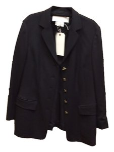 Escada Jacket Button Down Shirt Black with ESCADA GOLD buttons