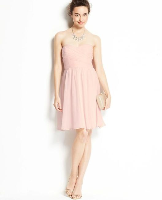 Item - Champagne Pink Silk Georgette Strapless #293496 Formal Bridesmaid/Mob Dress Size 2 (XS)