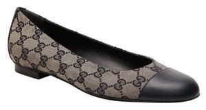 Gucci Leather Navy Blue Flats