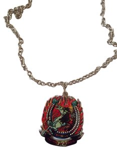Ed Hardy Ed Hardy Horse in Fire Unisex Necklace Free Shipping