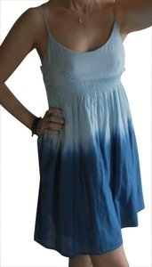 LF short dress Blue Tie Dye Gauze Adjustable Straps Lined Stretchy Waist on Tradesy