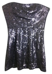 BCBGMAXAZRIA Mini Shinny Strapless Dress