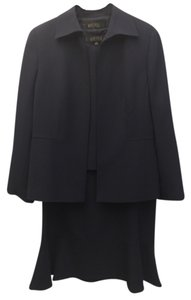 Kasper Navy Blue Skirt Suit 3 Piece